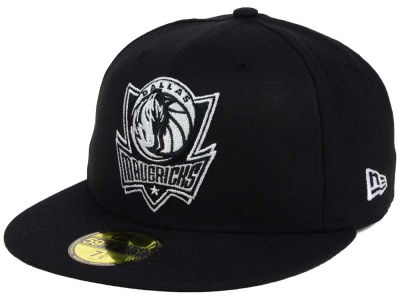 Dallas Mavericks New Era NBA Black White 59FIFTY Cap