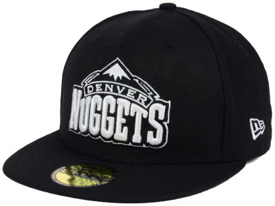 Denver Nuggets New Era NBA Black White 59FIFTY Cap