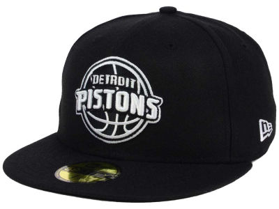 Detroit Pistons New Era NBA Black White 59FIFTY Cap