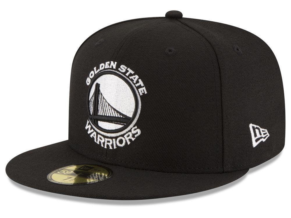 236601c8ead Golden State Warriors New Era Nba Black White 59fifty Cap Lids