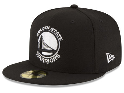Golden State Warriors New Era NBA Black White 59FIFTY Cap