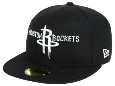 Houston Rockets New Era NBA Black White 59FIFTY Cap