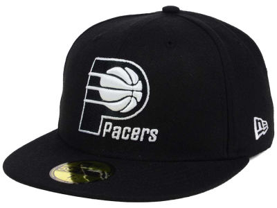 Indiana Pacers New Era NBA Black White 59FIFTY Cap