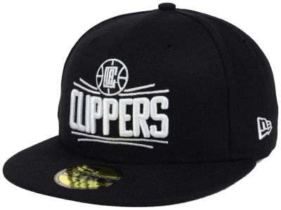 Los Angeles Clippers New Era NBA Black White 59FIFTY Cap