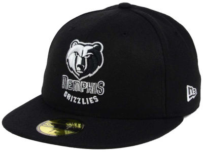 Memphis Grizzlies New Era NBA Black White 59FIFTY Cap