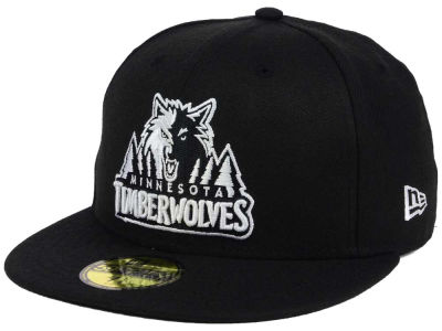 Minnesota Timberwolves New Era NBA Black White 59FIFTY Cap