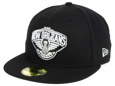 New Orleans Pelicans New Era NBA Black White 59FIFTY Cap