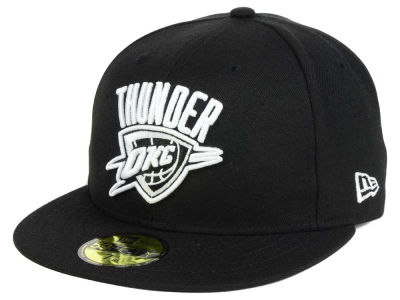 Oklahoma City Thunder New Era NBA Black White 59FIFTY Cap