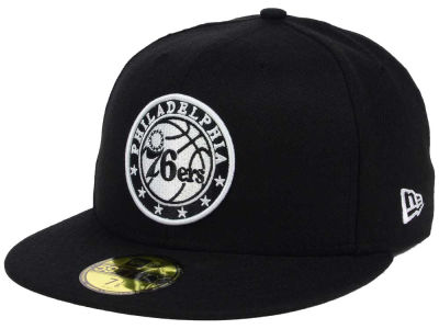 Philadelphia 76ers New Era NBA Black White 59FIFTY Cap