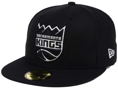 Sacramento Kings New Era NBA Black White 59FIFTY Cap