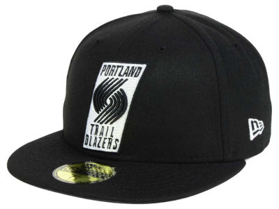 Portland Trail Blazers New Era NBA Black White 59FIFTY Cap