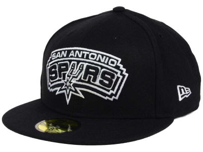 San Antonio Spurs New Era NBA Black White 59FIFTY Cap