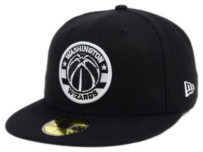 Washington Wizards New Era NBA Black White 59FIFTY Cap