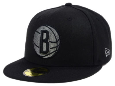 Brooklyn Nets New Era NBA Black Graph 59FIFTY Cap