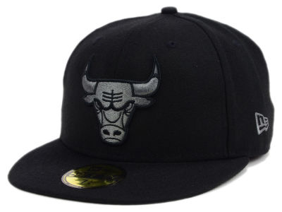 Chicago Bulls New Era NBA Black Graph 59FIFTY Cap