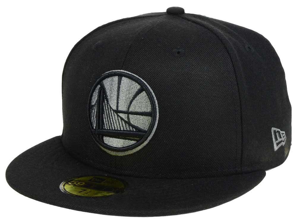 Golden State Warriors New Era NBA Black Graph 59FIFTY Cap  e2446ea9f22