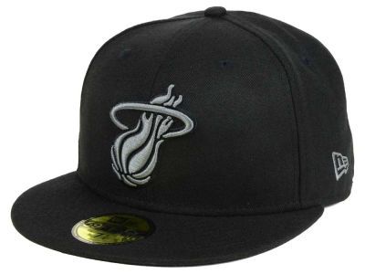 Miami Heat New Era NBA Black Graph 59FIFTY Cap