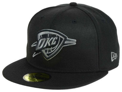 Oklahoma City Thunder New Era NBA Black Graph 59FIFTY Cap