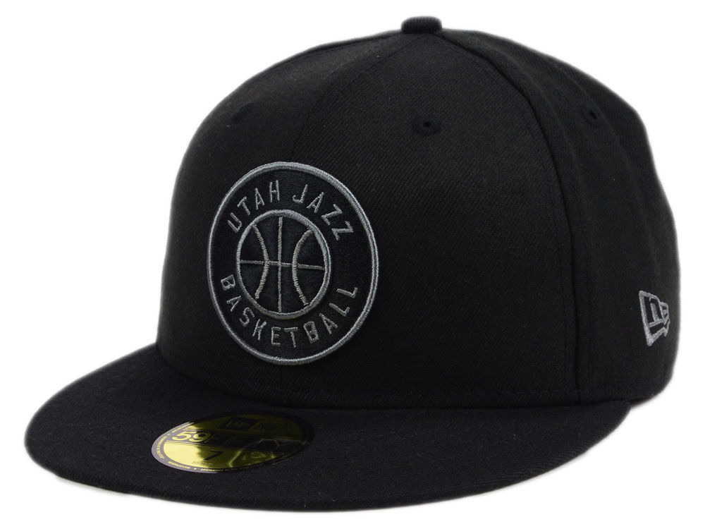 Utah Jazz New Era NBA Black Graph 59FIFTY Cap  914af433911