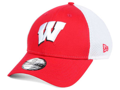 Wisconsin Badgers New Era NCAA Neo 39THIRTY Cap