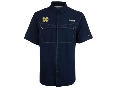Notre Dame Fighting Irish Columbia NCAA Men's Low Drag Off Shore Button Up Shirt