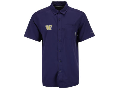 Washington Huskies Columbia NCAA Men's Slack Tide Shirt