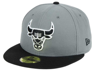 Chicago Bulls New Era NBA 2-Tone Gray Black 59FIFTY Cap