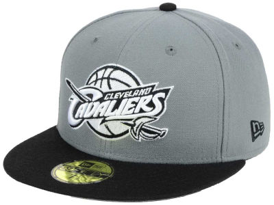 Cleveland Cavaliers New Era NBA 2-Tone Gray Black 59FIFTY Cap
