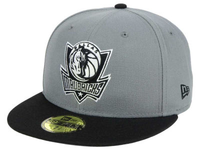 Dallas Mavericks New Era NBA 2-Tone Gray Black 59FIFTY Cap