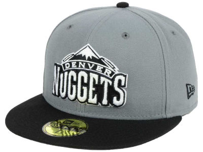 Denver Nuggets New Era NBA 2-Tone Gray Black 59FIFTY Cap