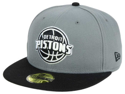 Detroit Pistons New Era NBA 2-Tone Gray Black 59FIFTY Cap