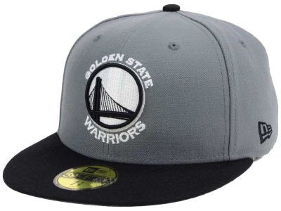 Golden State Warriors New Era NBA 2-Tone Gray Black 59FIFTY Cap