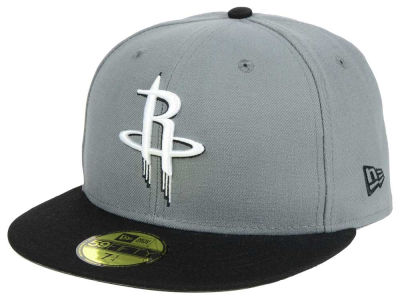 Houston Rockets New Era NBA 2-Tone Gray Black 59FIFTY Cap