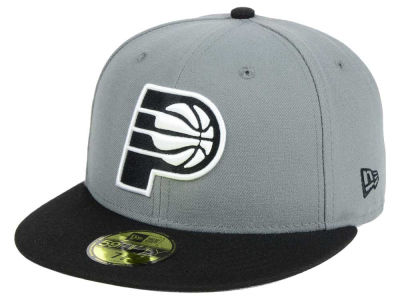Indiana Pacers New Era NBA 2-Tone Gray Black 59FIFTY Cap