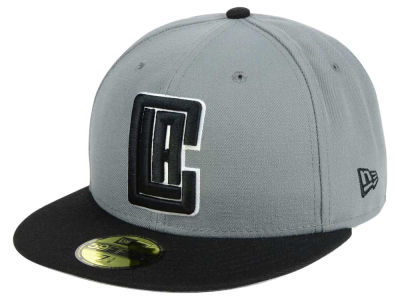 Los Angeles Clippers New Era NBA 2-Tone Gray Black 59FIFTY Cap