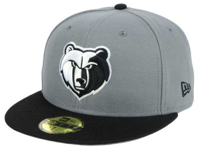 Memphis Grizzlies New Era NBA 2-Tone Gray Black 59FIFTY Cap