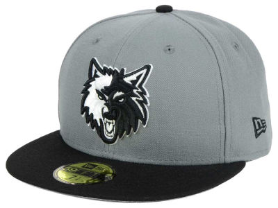 Minnesota Timberwolves New Era NBA 2-Tone Gray Black 59FIFTY Cap