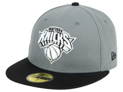 New York Knicks New Era NBA 2-Tone Gray Black 59FIFTY Cap