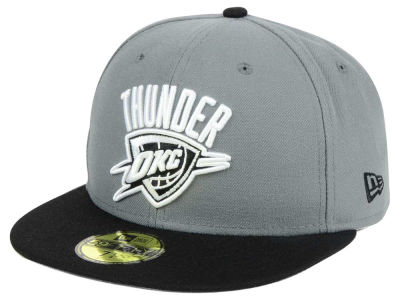 Oklahoma City Thunder New Era NBA 2-Tone Gray Black 59FIFTY Cap