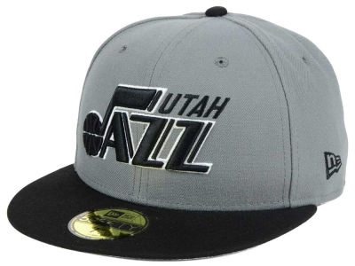 Utah Jazz New Era NBA 2-Tone Gray Black 59FIFTY Cap