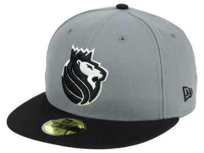 Sacramento Kings New Era NBA 2-Tone Gray Black 59FIFTY Cap