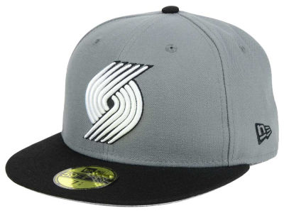 Portland Trail Blazers New Era NBA 2-Tone Gray Black 59FIFTY Cap