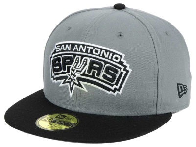 San Antonio Spurs New Era NBA 2-Tone Gray Black 59FIFTY Cap