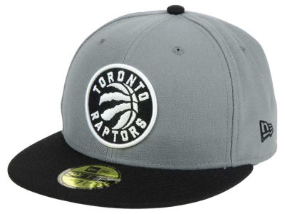 Toronto Raptors New Era NBA 2-Tone Gray Black 59FIFTY Cap