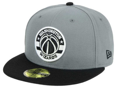 Washington Wizards New Era NBA 2-Tone Gray Black 59FIFTY Cap