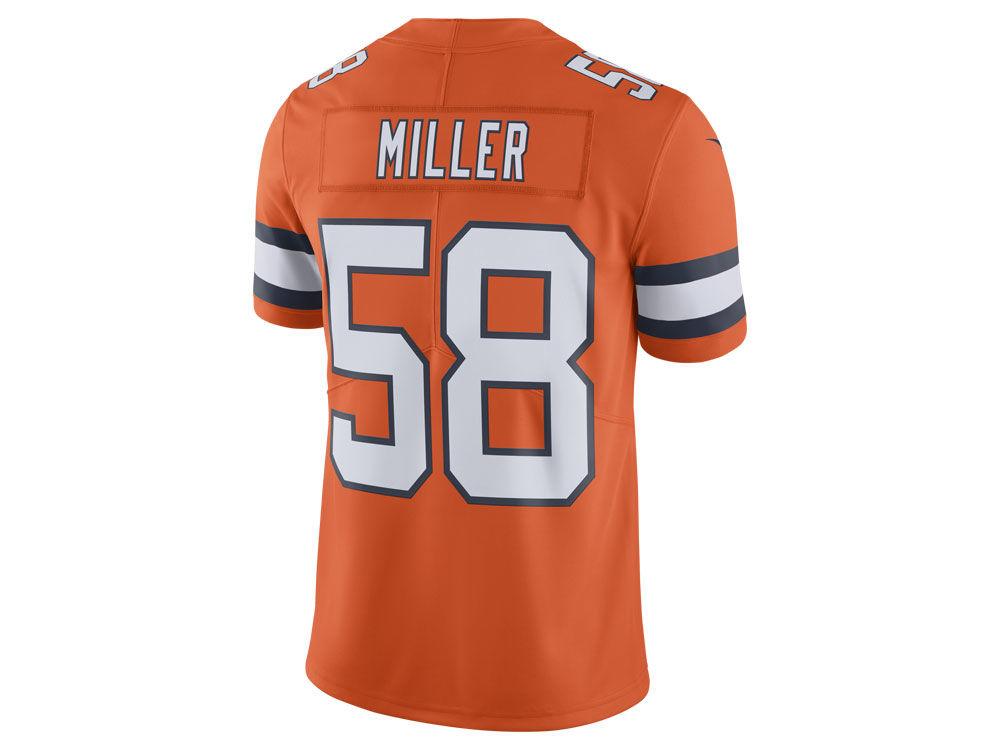 Denver Broncos Von Miller Nike NFL Men s Limited Color Rush Jersey ... ef90cbdc4