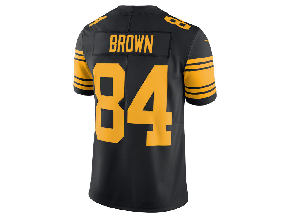Pittsburgh Steelers Antonio Brown Nike NFL Men s Limited Color Rush Jersey 56426482f