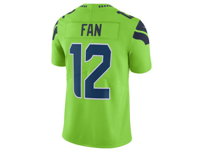 Seattle Seahawks Fan #12 Nike NFL Men's Limited Color Rush Jersey