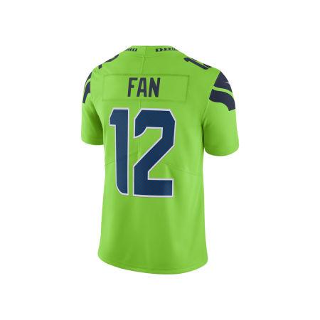 Seattle Seahawks Fan #12 Nike NFL Men's Limited Color Rush Jersey