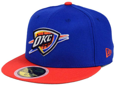 Oklahoma City Thunder New Era NBA Kids 2-Tone Team 59FIFTY Cap